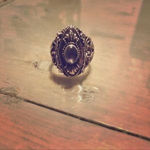 Silver embellished ring